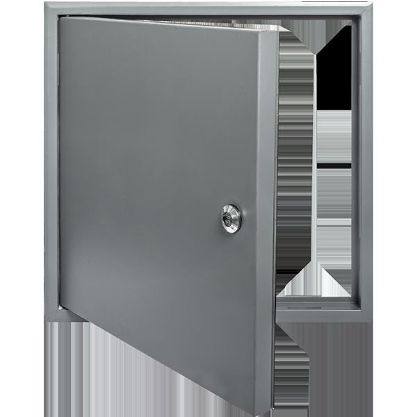 Airtight Metal Access Panel Open
