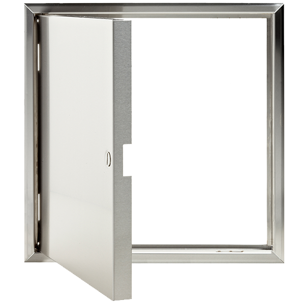 Stainless Steel Access Panel Open