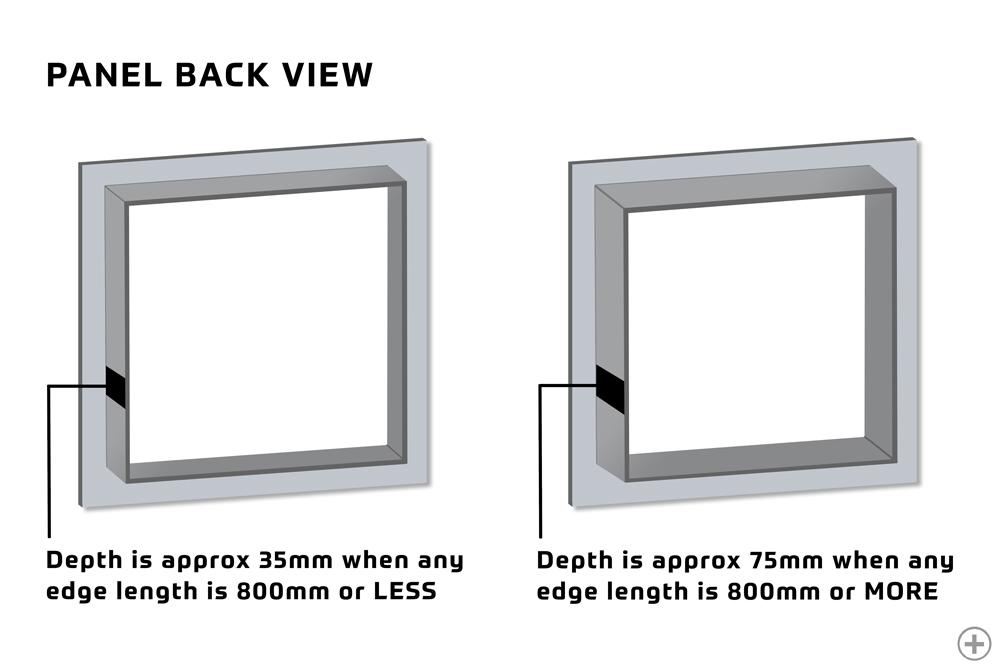 35mm Depth and 75mm Depth